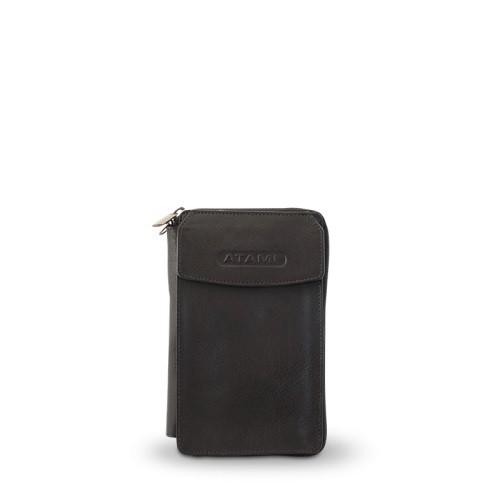 Atami cestovní peněženka černá s logem
