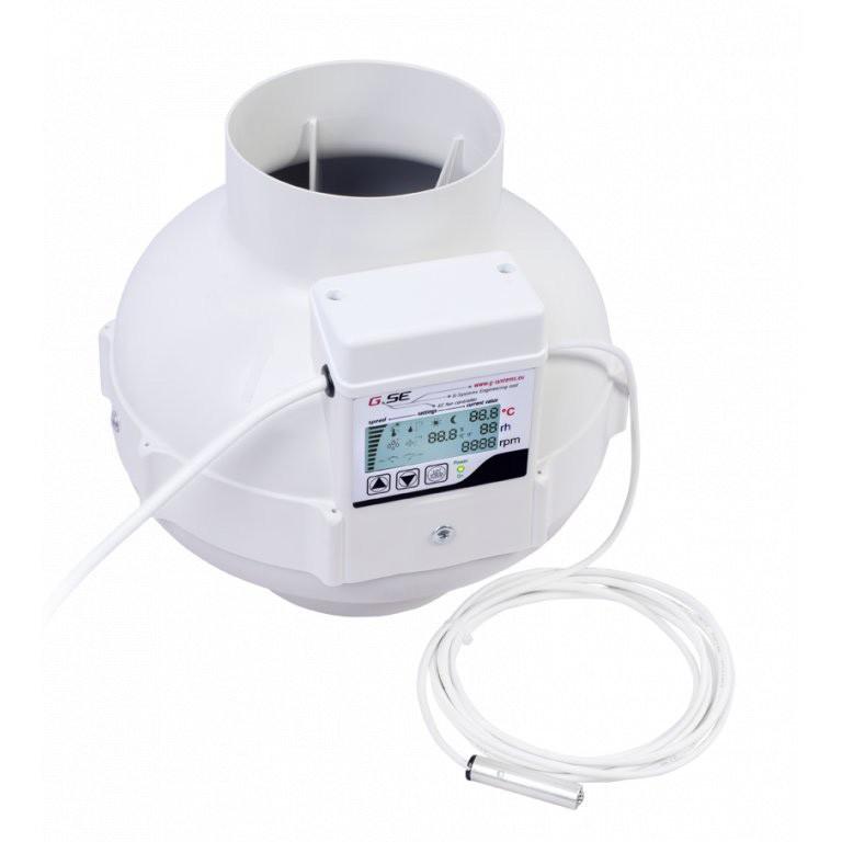 Ventilátor GSE EC s displejem 125mm, 950m3/h