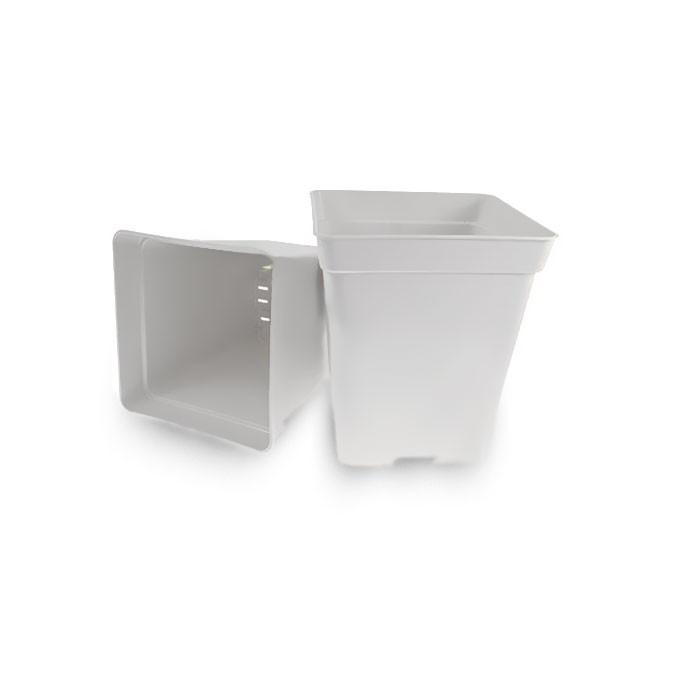 Květináč plastový 20x20x23 - 5,7l - bílý