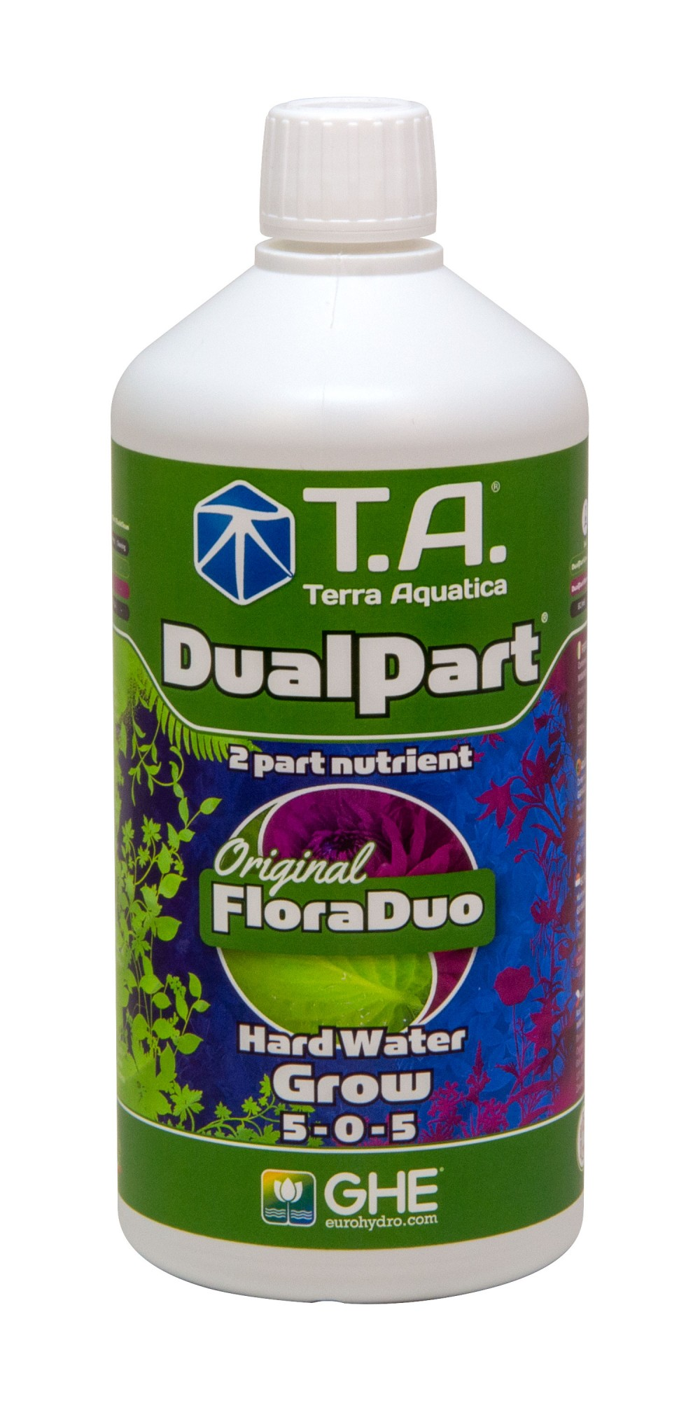 GHE FloraDuo Grow Hard Water 1L (DualPart Grow HW)