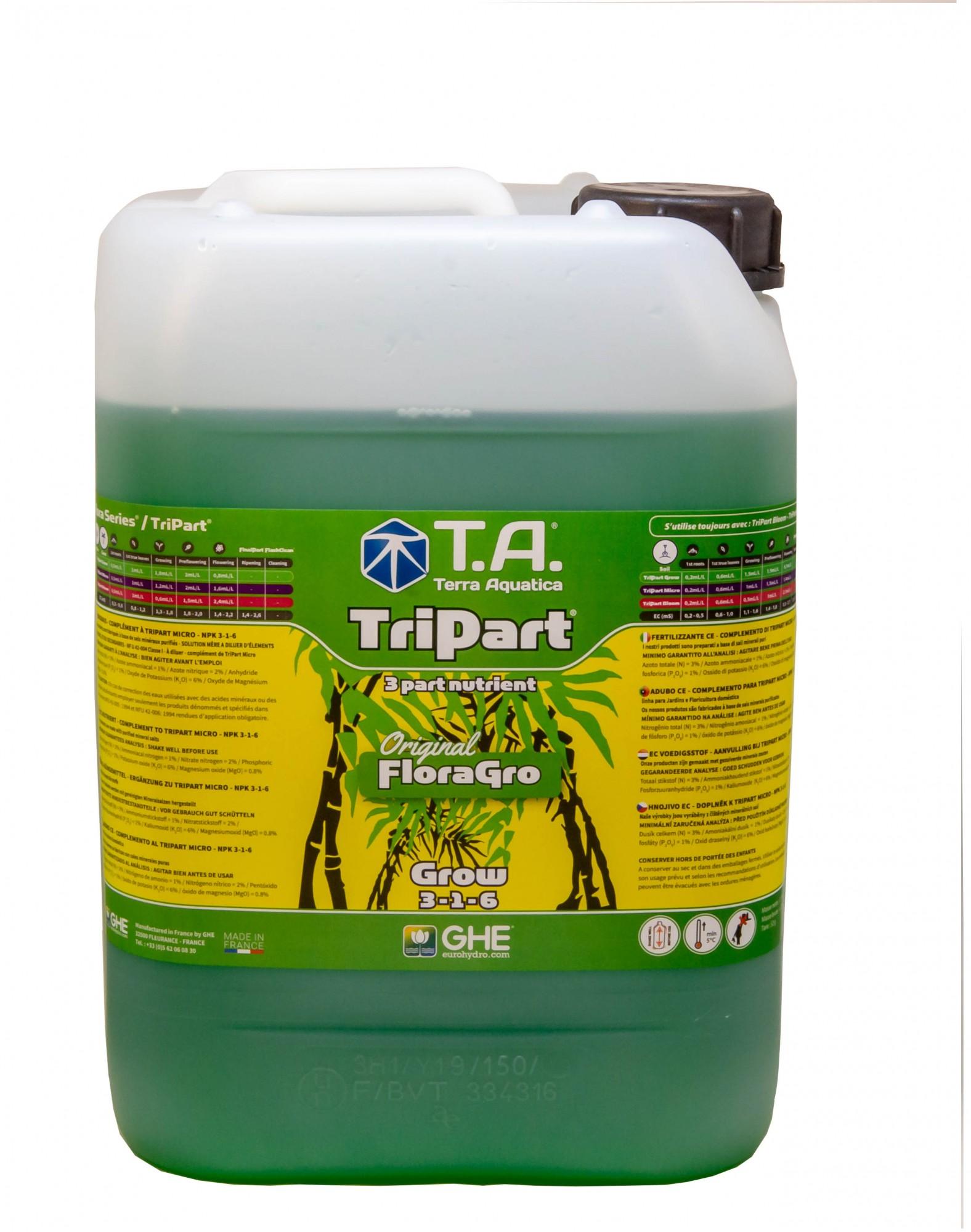 GHE FloraGro 10L (TriPart Grow)