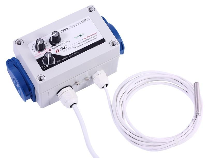 GSE Digitální regulátor teploty, podtlaku a min. rychlosti ventilátorů 2x1A (UKONČENA VÝROPBA)