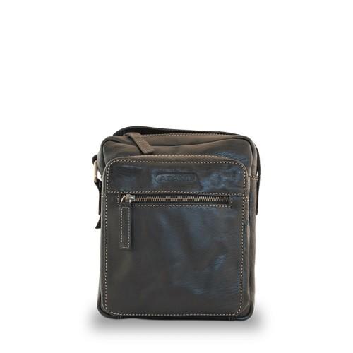 Atami kožená taška přes rameno černá s logem