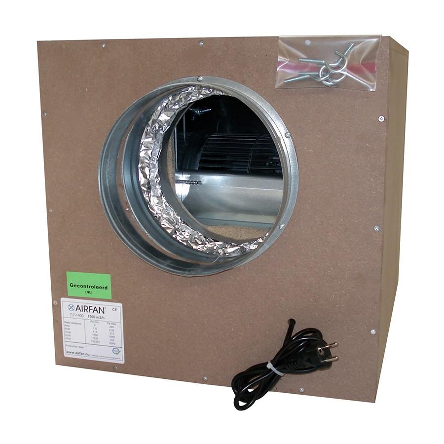 Airfan SOFT-Box 1500 m³/h - maximálně odhlučněný ventilátor včetně přírub a háků k upevnění