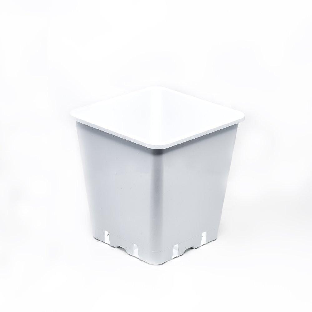 Květináč plastový bílý 25x25x26 - 11L