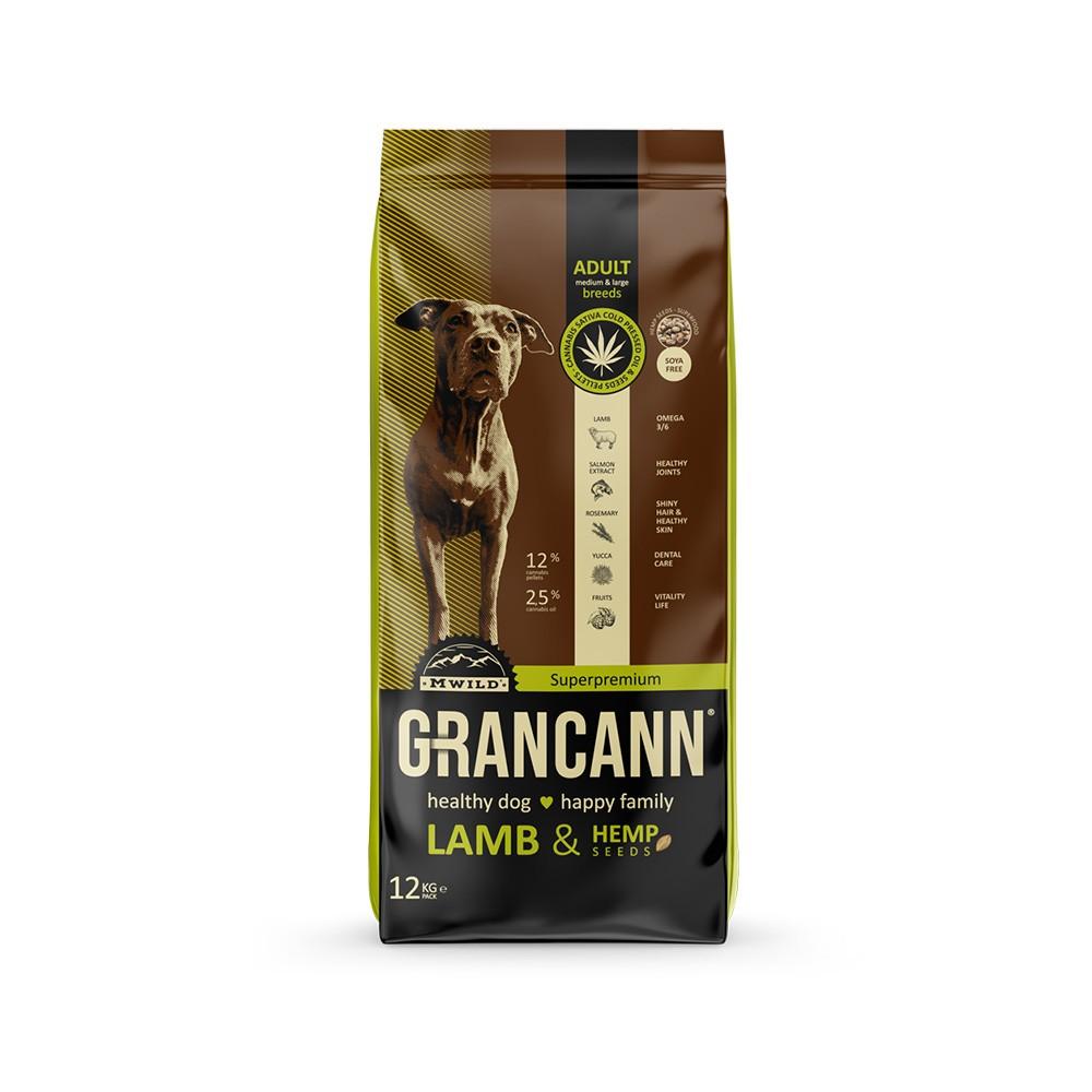 Grancann Lamb & Hemp seeds Adult medium & large breeds 12kg