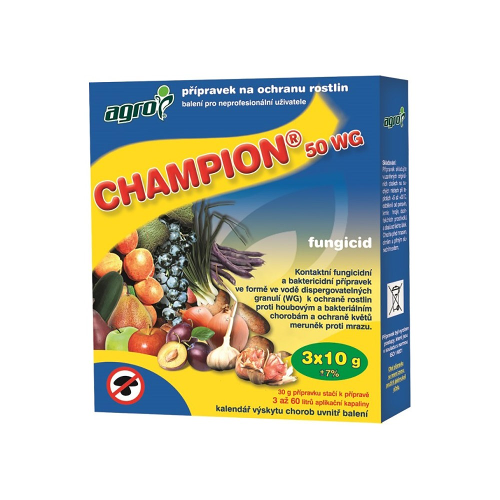AGRO Champion 50 WP 3x10g - ochrana proti plísni