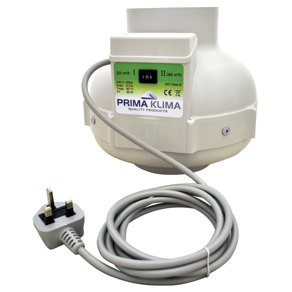 Ventilátor Prima Klima 125 mm, 220/400 m³/h - 2-rychlostní