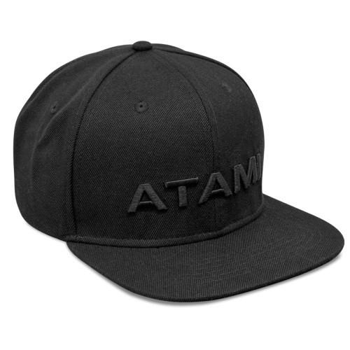 Atami čepice černá s plochým kšiltem a logem