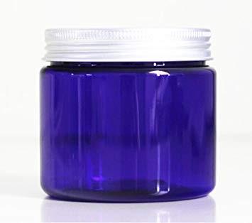 Modrá uzavíratelná kapesní sklenice s víčkem
