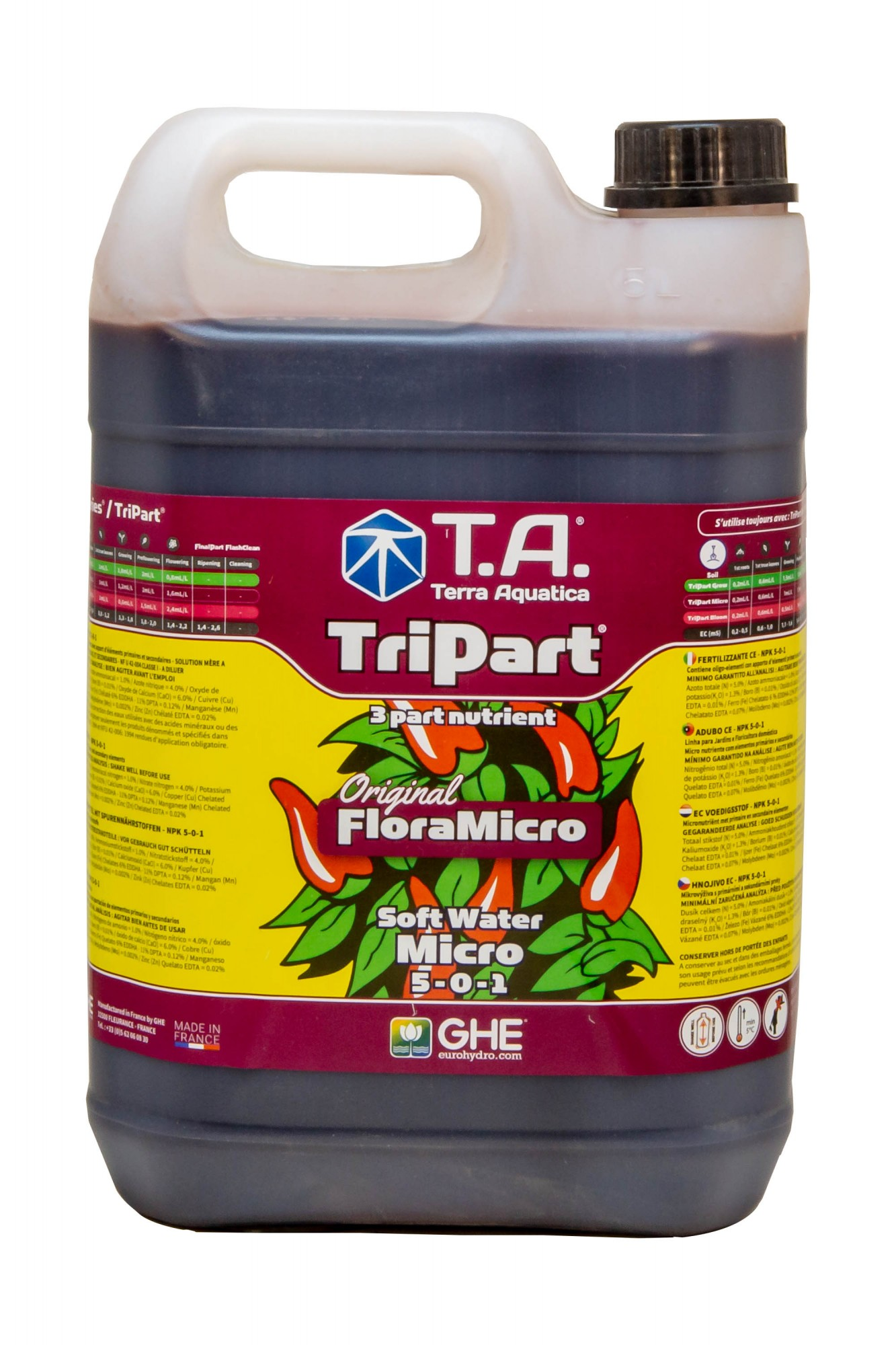 GHE FloraMicro Soft Water 5L (TriPart Micro SW)