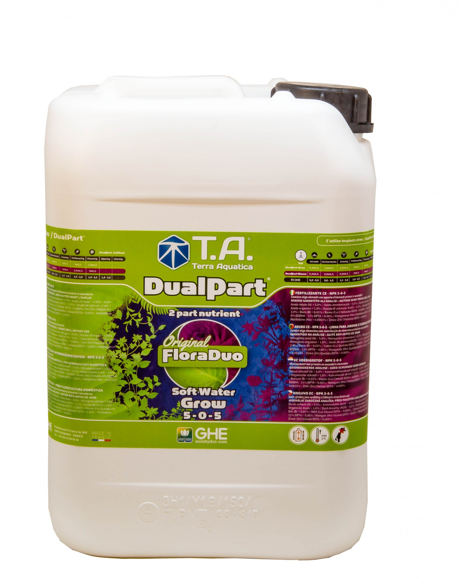GHE FloraDuo Grow Soft Water 10L (DualPart Grow SW)