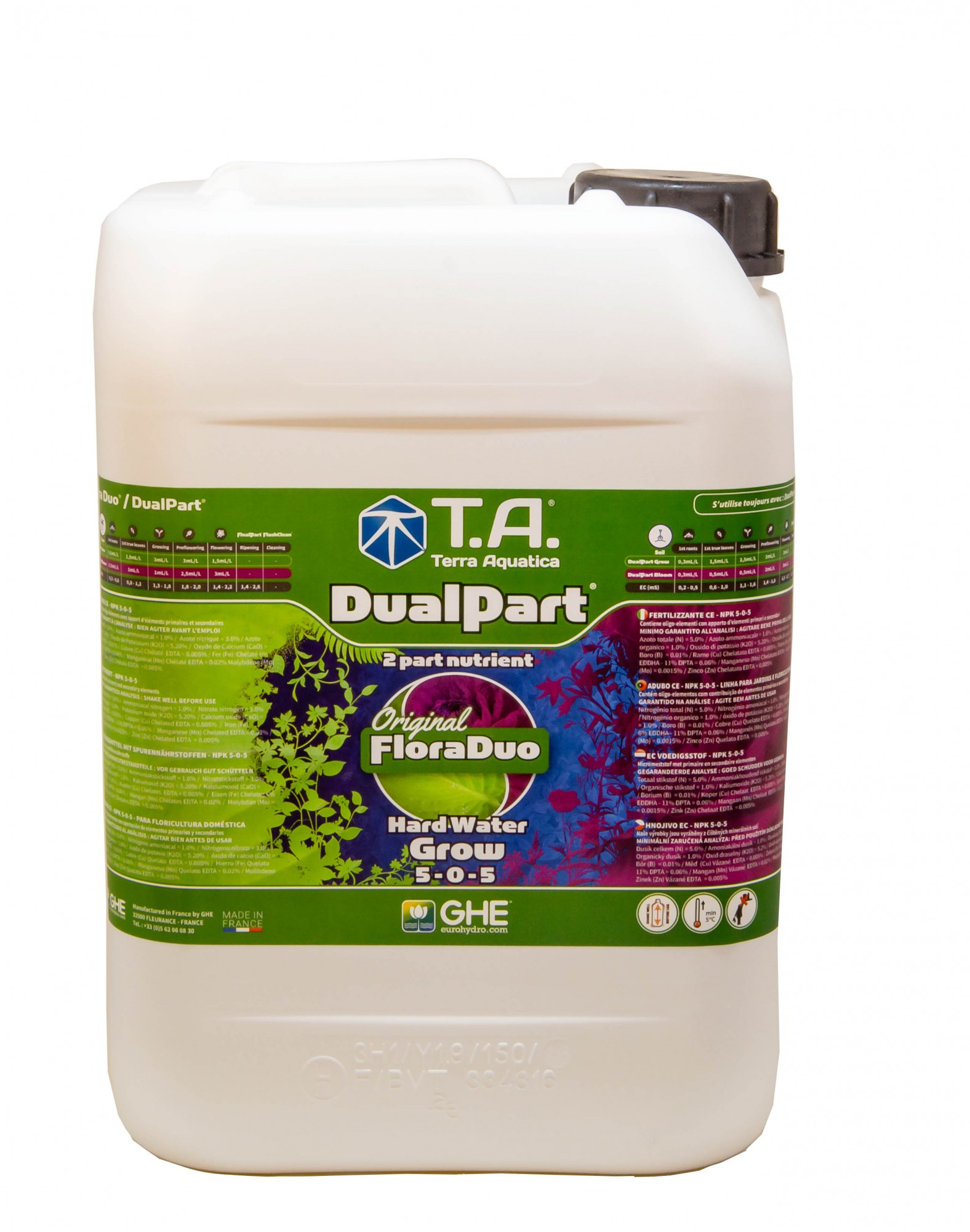 GHE FloraDuo Grow Hard Water 10L (DualPart Grow HW)