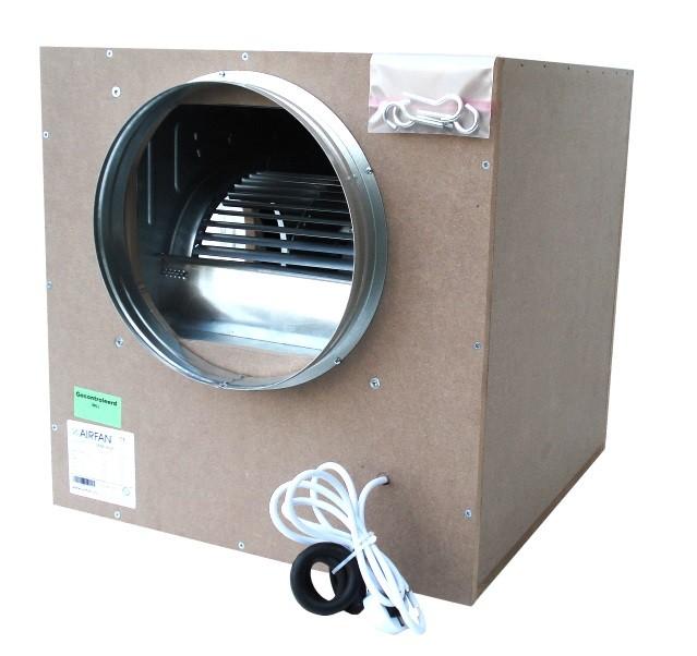 Airfan ISO-Box 750 m³/h - odhlučněný ventilátor včetně přírub a háků k upevnění