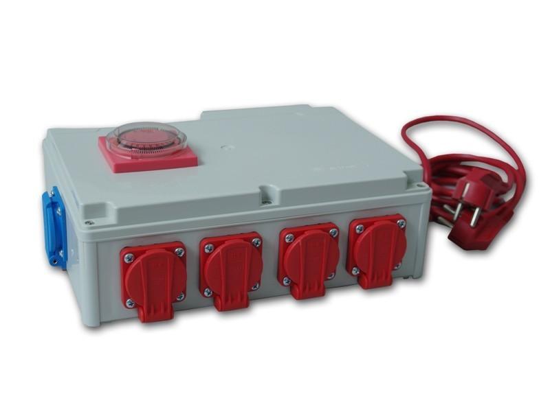 Davin Low budget rozvodna 8x600W s časovačem + zásuvka na topení