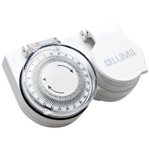LUMII 24 Mechanické spínací hodiny na vysokou indukční zátěž (1x600W HPS)