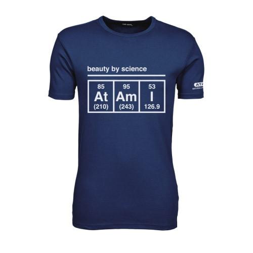 Atami pánské tričko - Beauty by Science Indigo L