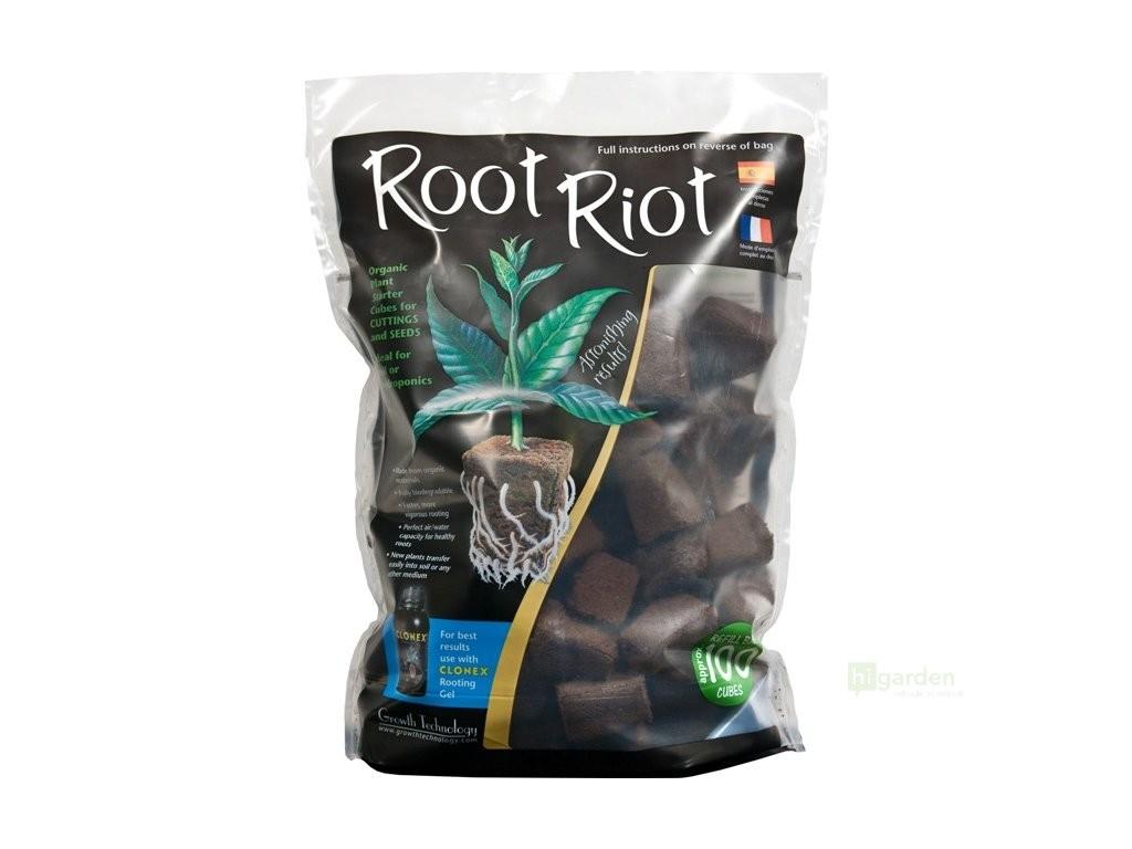 Root Riot 100 - sadbovací kostky bez sadbovače (100ks)