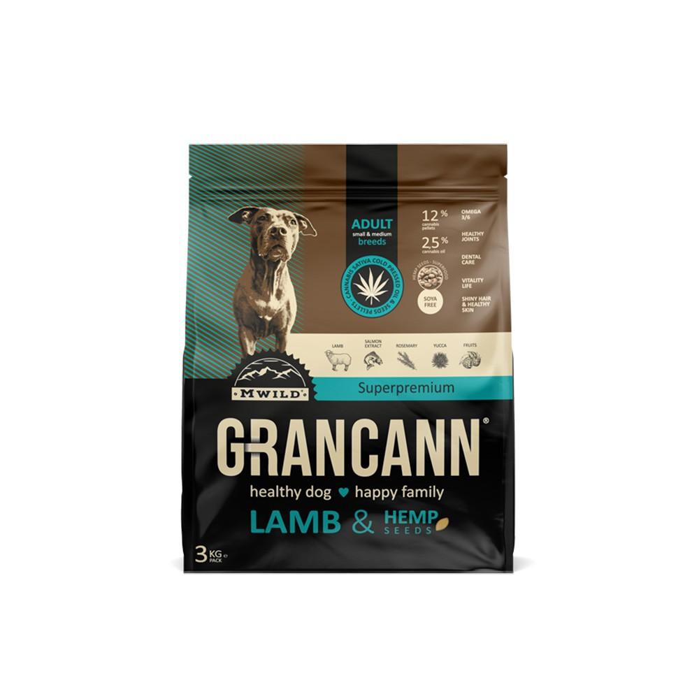 Grancann Lamb & Hemp seeds Adult small & medium breeds 3kg
