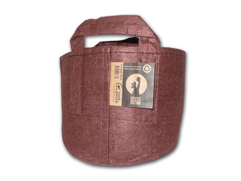 Root pouch textilní květináč Boxer brown 12l