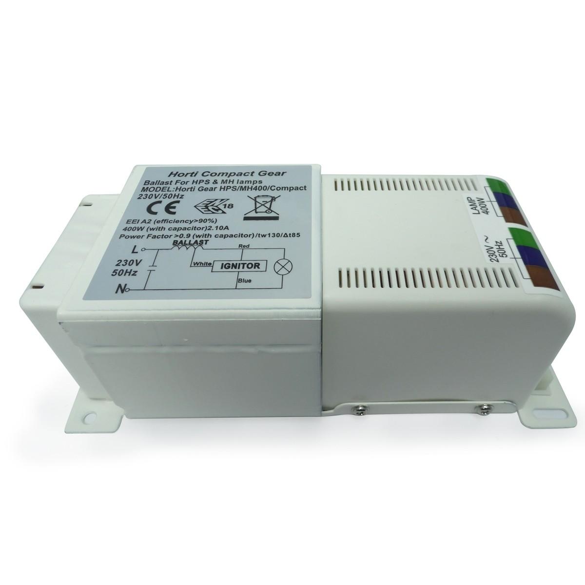Magnetický předřadník Horti gear compact 400W s tepelnou ochranou